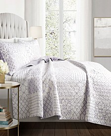 Monique 3Pc Full/Queen Quilt Set