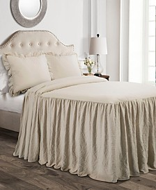 Ruffle Skirt 3-Pc. King Bedspread Set