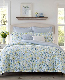 Nora Sun Blue Comforter Set, Full/Queen