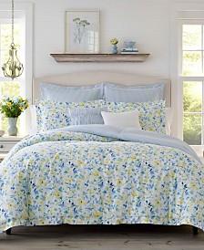 Laura Ashley Nora Sun Blue Comforter Set, Full/Queen