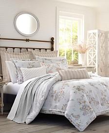 Laura Ashley Lorene Natural Comforter Set, Twin