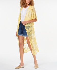 I.N.C. Lace Long Kimono, Created for Macy's