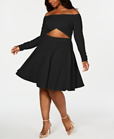 Rebdolls Love Struck Skater Dress By The Workshop at Macy's, Regular & Plus Sizes