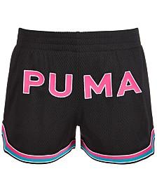 Puma Big Girls Mesh Logo Shorts