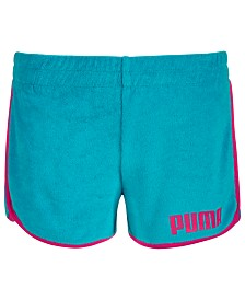 Puma Big Girls Terry Cloth Shorts