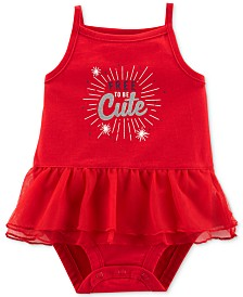 Carter's Baby Girls Free To Be Cute Tutu Bodysuit