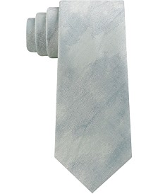 Calvin Klein Men's Abstract Brush Strokes Slim Silk Tie