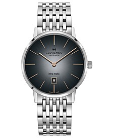 Men's Swiss Automatic American Classic Intra-Matic Stainless Steel Bracelet Watch 42mm