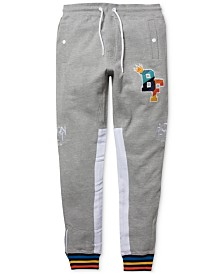 Born Fly Men's Big & Tall Logo Graphic Track Pants