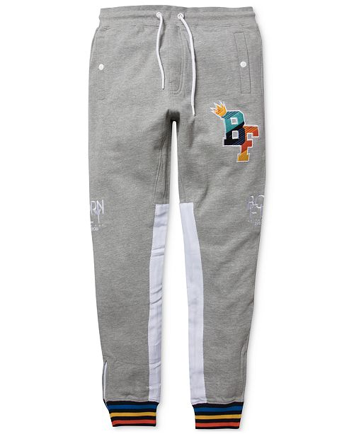 Born Fly Men's Big & Tall Logo Graphic Track Pants