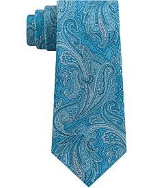 Michael Kors Men's Line Art Paisley Silk Tie