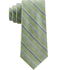 Michael Kors Men's Asymmetrical Textured Ground Stripe Tie