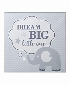"Lillian Rose ""Dream Big"" Elephant Nursery Canvas"