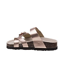 Every Step Buckle Cork Lining Sandals