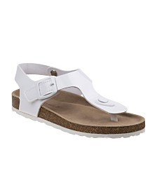 Laura Ashley's Every Step T-Strap Cork Lining Sandals