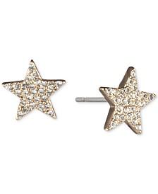 DKNY Gold-Tone Pavé Star Stud Earrings