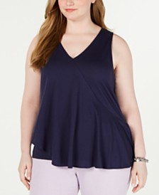 MICHAEL Michael Kors Plus Size Asymmetrical Top