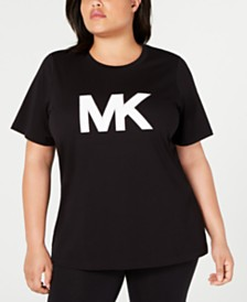MICHAEL Michael Kors Plus Size Studded Logo Cotton T-Shirt