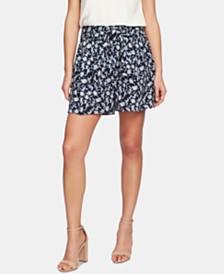 CeCe Printed Tie-Waist Shorts