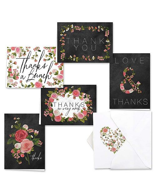 Masterpiece Cards Chalkboard Floral  Note Cards Assortment