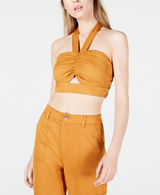 J.O.A. Cropped Halter Top