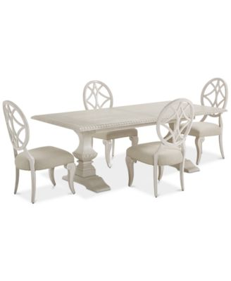 Jasper County Dogwood Rectangular Dining Furniture, 5-Pc. Set (Table & 4 Side Chairs)