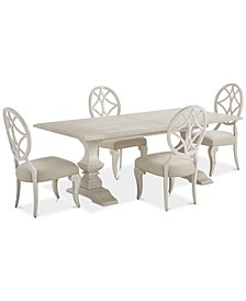 Trisha Yearwood Jasper County Dogwood Rectangular Dining 5-Pc. Set (Table & 4 Side Chairs)