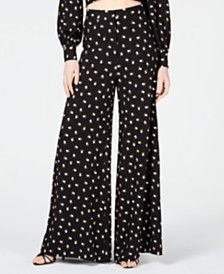 Jill Jill Stuart Embroidered Wide-Leg Pants