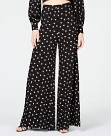 Jill Jill Stuart Embroidered Wide-Leg Pants