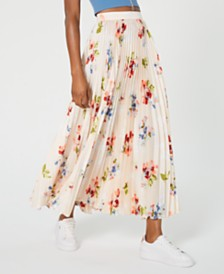 Jill Jill Stuart Floral-Print Pleated Maxi Skirt