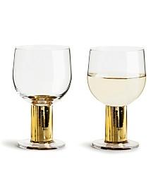 Sagaform Club Gold All Purpose Glass, 2 Pack