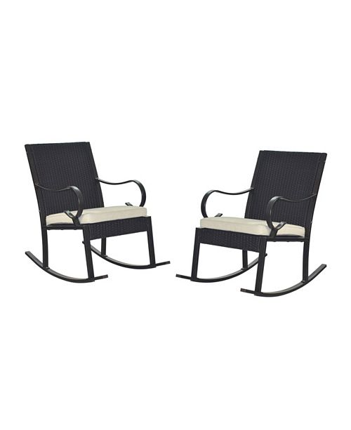 Miraculous Furniture Harmony Outdoor Rocking Chair Quick Ship Set Of Short Links Chair Design For Home Short Linksinfo