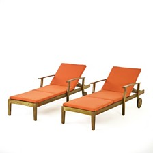 Perla Outdoor Chaise Lounge, Quick Ship (Set of 2)