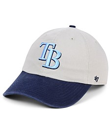 '47 Brand Tampa Bay Rays Gray 2-Tone CLEAN UP Cap