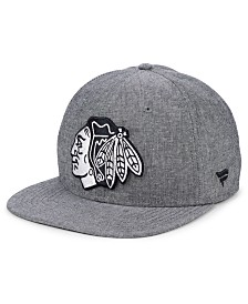 Authentic NHL Headwear Chicago Blackhawks Chambray Emblem Snapback Cap