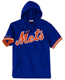 Mitchell & Ness Men's New York Mets French Terry Short Sleeve Hoodie
