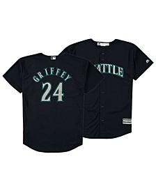 Big Boys Ken Griffey Jr. Seattle Mariners Mesh V-Neck Player Jersey