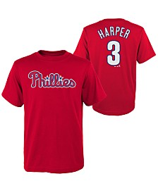 Majestic Big Boys Bryce Harper Philadelphia Phillies Official Player T-Shirt