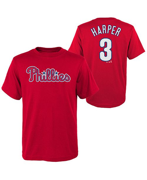 new arrival f4a28 cad08 Big Boys Bryce Harper Philadelphia Phillies Official Player T-Shirt