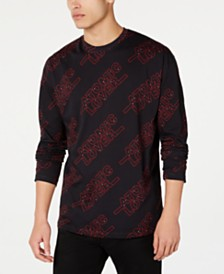 HUGO Men's Oversized Atomic Lover Graphic Sweatshirt
