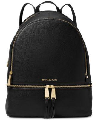 Rhea Pebble Leather Backpack