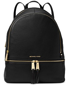 MICHAEL Michael Kors Rhea Pebble Leather Backpack