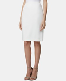 Tahari ASL Slit-Back Pencil Skirt