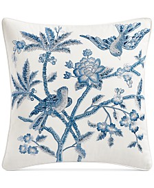 "Hotel Collection Classic Botanical 16"" x 16"" Decorative Pillow, Created for Macy's"