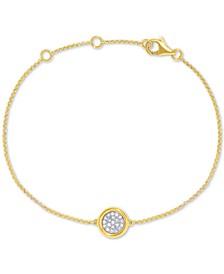 EFFY® Diamond Cluster Bangle Bracelet (1/10 ct. t.w.) in 14k Gold
