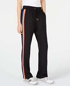 MICHAEL Michael Kors Rainbow-Striped Track Pants