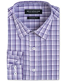 Nick Graham Men's Slim-Fit Plaid Shirt