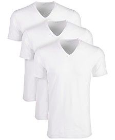 Calvin Klein Men's Cotton Stretch V-Neck Undershirts 3-Pack