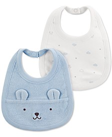 Baby Boys 2-Pack Bear Bibs