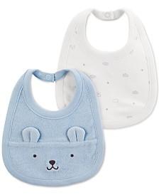 Carter's Baby Boys 2-Pack Bear Bibs
